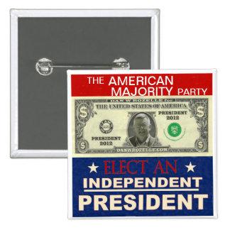 Dan Rozelle for President 2012 15 Cm Square Badge