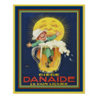 Danaide - Vintage French Beer Ad 16x20 Poster