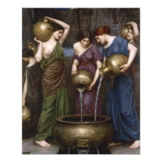 "Danaides by John William Waterhouse 4.5"" X 5.6"" Flyer"