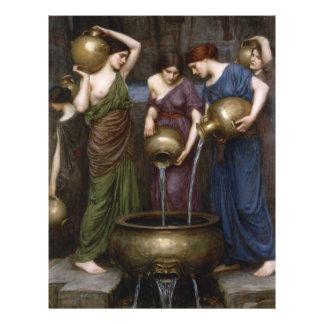 "Danaides by John William Waterhouse 8.5"" X 11"" Flyer"