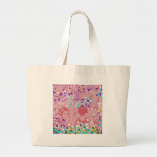 Dance 妓 with flower and invitation cat canvas bags