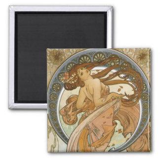 Dance (1898), Alphonse Mucha Fine Art Nouveau Magnet