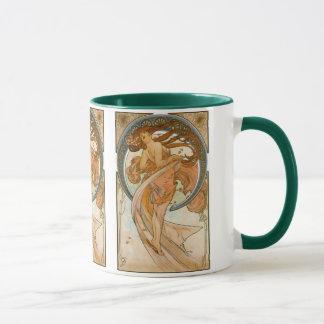 Dance (1898), Alphonse Mucha Fine Art Nouveau Mug