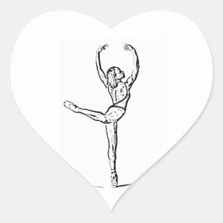 Dance 1 heart sticker