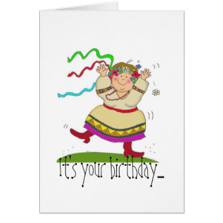 Dance a Little Birthday Card