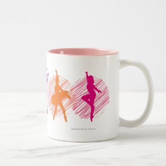 Dance Academy Color Dancers Logo Two-Tone Coffee Mug
