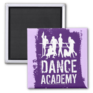 Dance Academy Silhouettes Logo Square Magnet