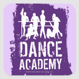 Dance Academy Silhouettes Logo Square Sticker