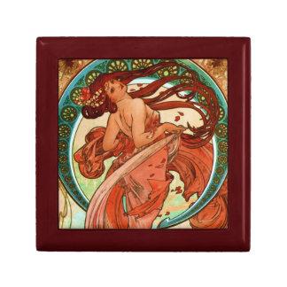 Dance Alphonse Mucha Art Nouveau Small Square Gift Box