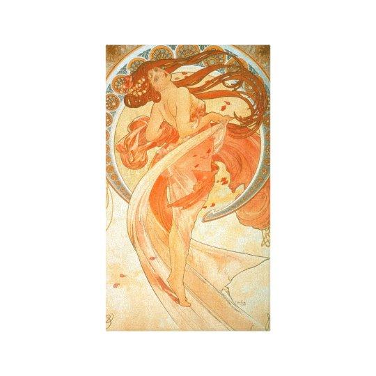 """""""Dance"""" - Alphonse Mucha - Vintage Art Nouveau"""
