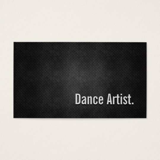 Dance Artist Cool Black Metal Simplicity Business Card