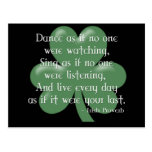 Dance as if :: Irish Proverb (White Design) Postcards