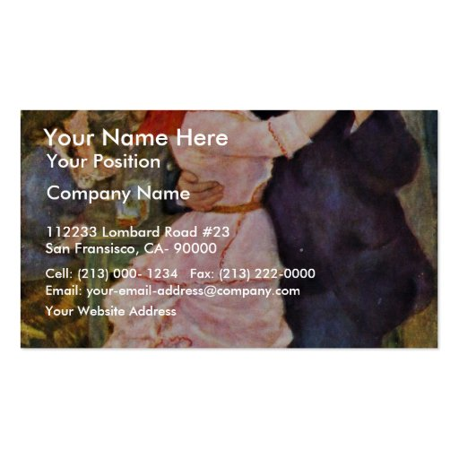 Dance At Bougival By Pierre-Auguste Renoir Business Cards