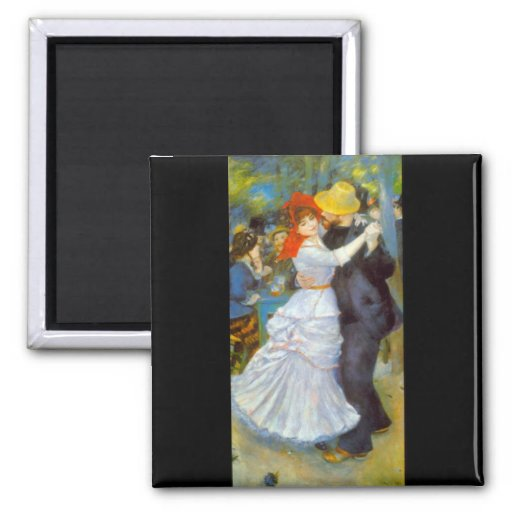 Dance at Bougival by Pierre Renoir Magnet