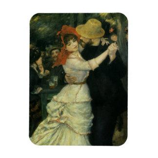 Dance at Bougival by Pierre Renoir, Vintage Art Rectangular Photo Magnet