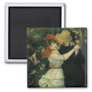 Dance at Bougival by Pierre Renoir, Vintage Art Square Magnet