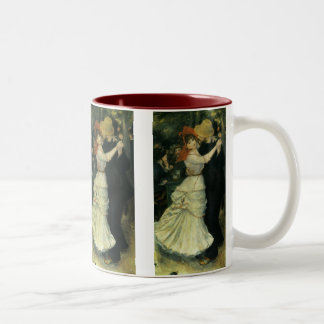 Dance at Bougival by Pierre Renoir, Vintage Art Two-Tone Coffee Mug