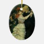 Dance at Bougival by Renoir, Vintage Impressionism Ceramic Oval Decoration