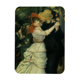 Dance at Bougival by Renoir, Vintage Impressionism Rectangular Magnet