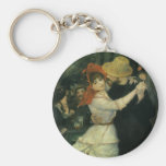 Dance at Bougival by Renoir, Vintage Impressionism Keychain
