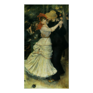 Dance at Bougival by Renoir Vintage Impressionism Posters