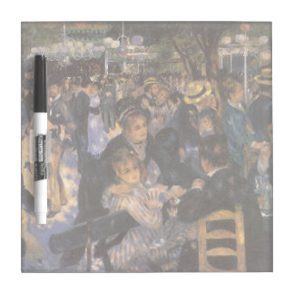 Dance at Le Moulin de la Galette by Pierre Renoir Dry Erase Board