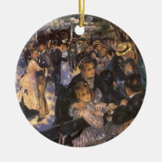 Dance at Le Moulin de la Galette by Pierre Renoir Round Ceramic Decoration