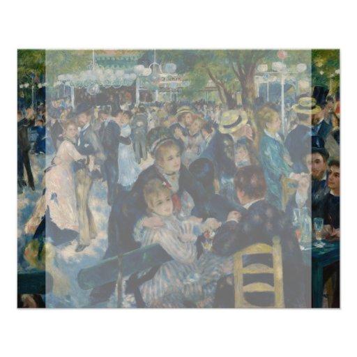 Dance at Le Moulin de la Galette by Renoir Flyer Design