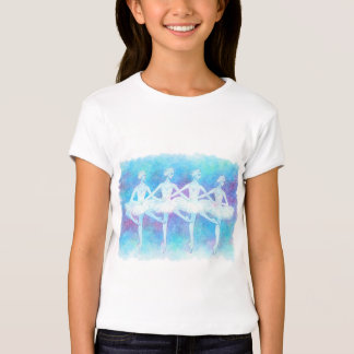 Dance baby doll of swan of four feathers tshirt