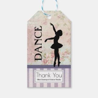 Dance - Ballerina Silhouette Vintage Thank You