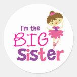 Dance Ballet Big Sister Round Sticker