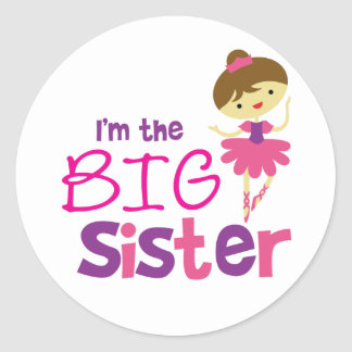 Dance Ballet Big Sister Stickers