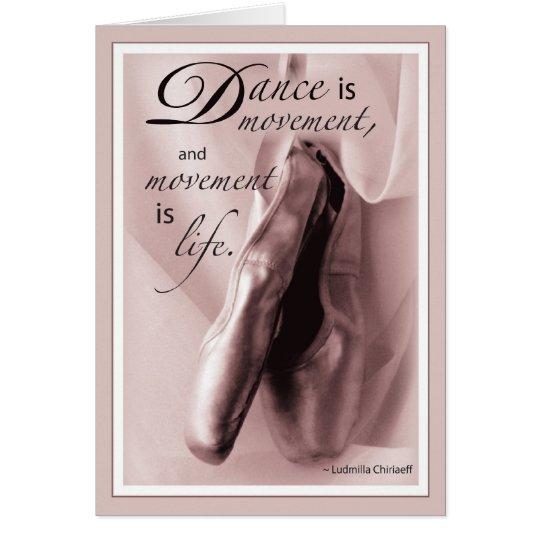 Dance Ballet Congratulations Card
