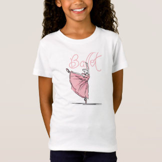 Dance Ballet Girls' Fitted Babydoll T-Shirt