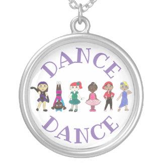 DANCE Ballet Tap Jazz Lyrical Acrobatics Dancer Silver Plated Necklace