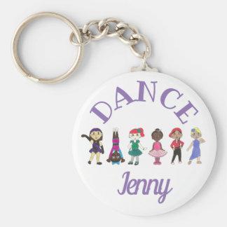 DANCE Ballet Tap Jazz Personalized Ballerina Gift Key Ring