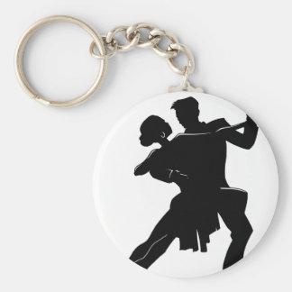 Dance Basic Round Button Key Ring
