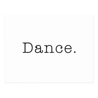 Dance. Black And White Dance Quote Template Postcard