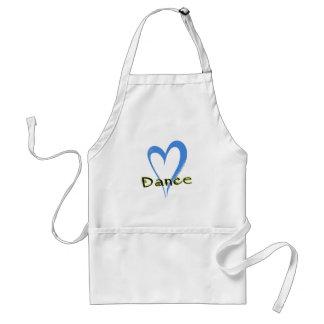 Dance blue heart standard apron