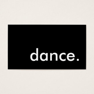 dance. business card