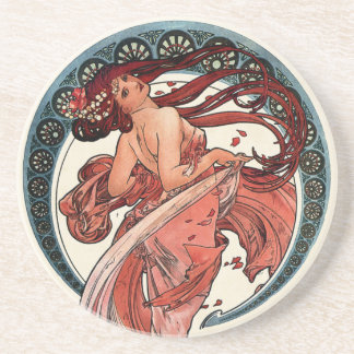 Dance by Alfons Mucha 1898 Coaster