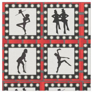 Dance Cabaret Show Dancers Print Fabric