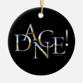 Dance! (Chrome) Christmas Ornament