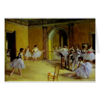Dance Class at the Opera by Degas Card