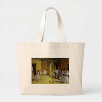 Dance Class at the Opera by Degas Large Tote Bag