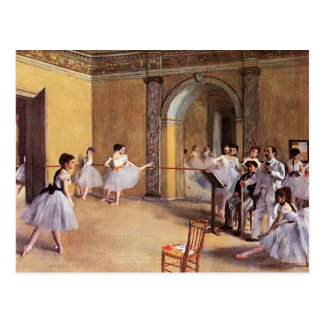 Dance Class at the Opera by Edgar Degas Postcard