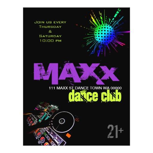 Dance Club DJ Disco Ball Flyer Invitation