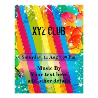 Dance Club Music Party Flyer