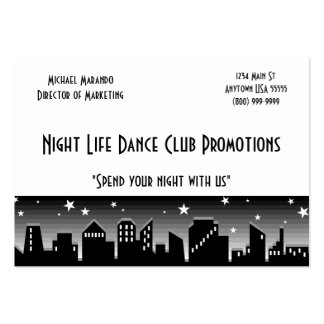 Dance Club Promoter Business Card