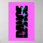 Dance Coloured Ballerinas Print